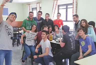 Spanish Students in University Residence