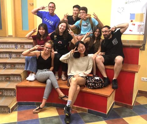 Les étudiants espagnols et leurs professeurs
