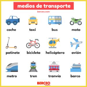 vocabulario en español medios de transporte
