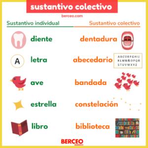 sustantivo colectivo en español